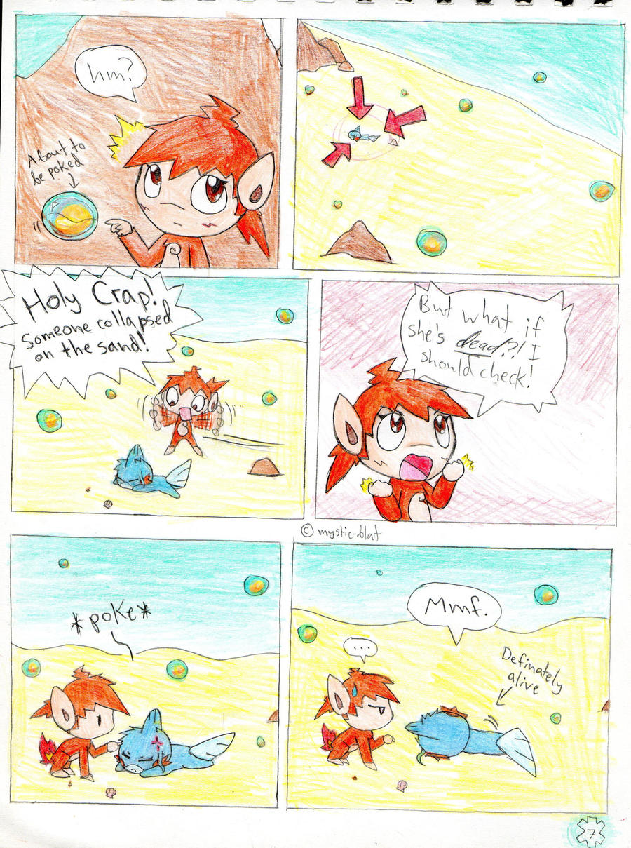 Amie used the amazing power of Flailing Arms to cross that beach in an instant. She also scared away the giant red arrows that were attacking Hotaru.  What a hero!