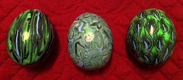 Dragon Eggs 'Wild Green' by KatherineReedKS