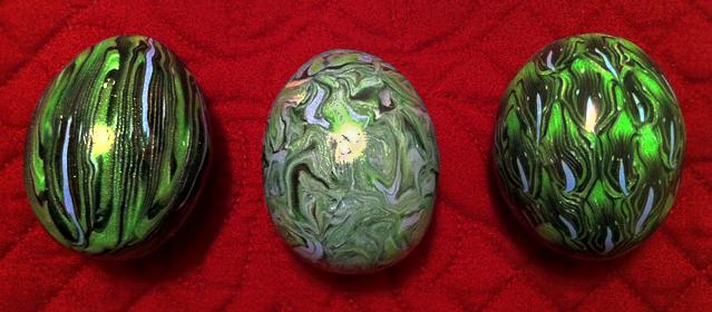 Dragon Eggs 'Wild Green' by KatherineReedKS