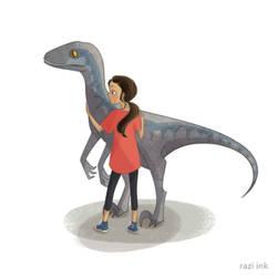 Blue the Raptor - Jurassic World