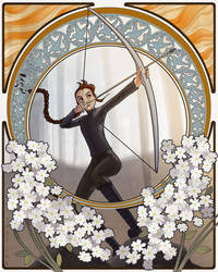 Katniss Art Nouveau