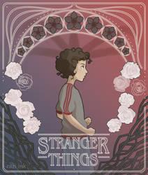 Stranger Things Art Nouveau - Eleven
