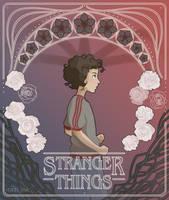 Stranger Things Art Nouveau - Eleven by raziink