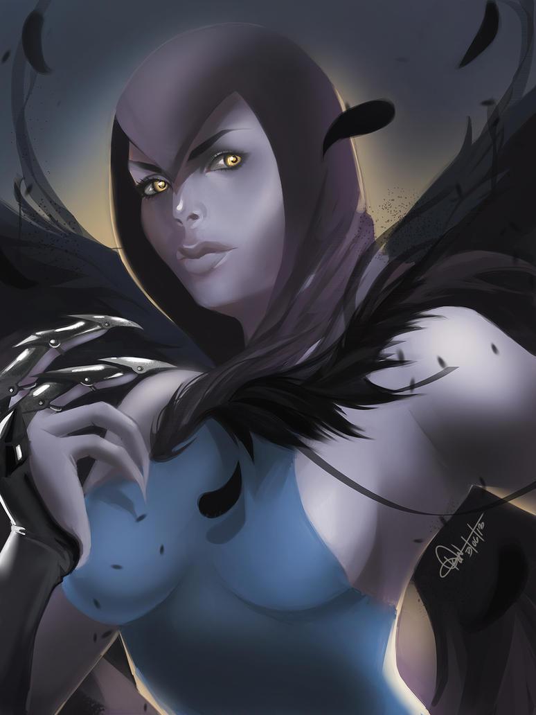 Raven from Injustice: gods among us by kccv