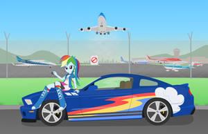 Equestria Rides: Rainbow Dash by Algoorthviking