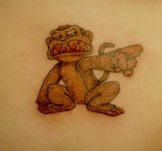 EVIL MONKEY - shoulder tattoo