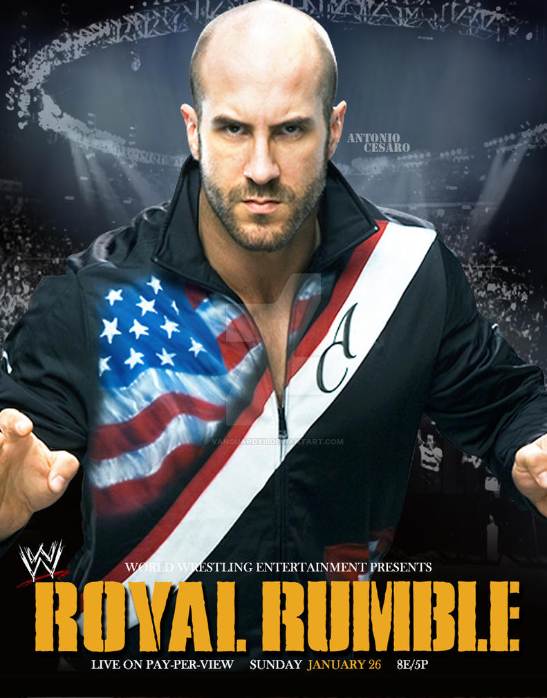 WWE  Royal Rumble 2014 Custom Poster by VanguardXII