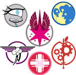 Fallout: Equestria Ministry Emblems