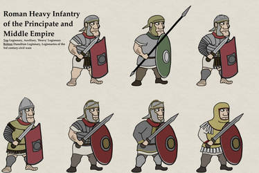 Principate + Middle Imperial Roman Heavy Infantry