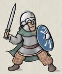 Romano-British Warrior, 5th c AD (cloak)