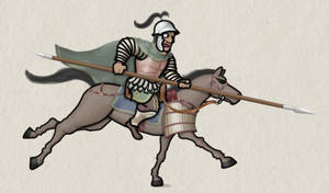 Greco Bactrian Cataphract, 4th-3rd c BC