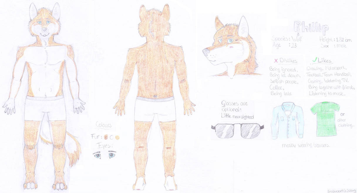 Phillip | Reference sheet | 2019 by enzovoort