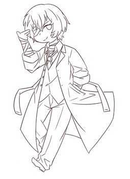 Dazai (line-art)