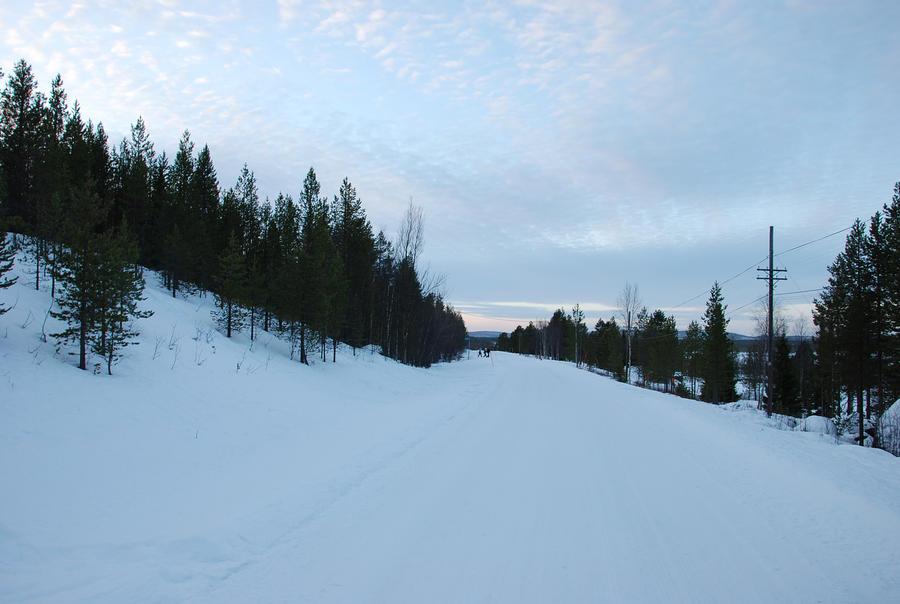 Roads in finnish Lapland by hoshitsu