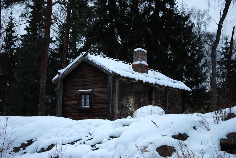 Winter cottage by hoshitsu