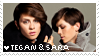 Tegan and Sara stamp by earthytones