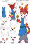 Sefy Character Sheet by Gakriele-lvs