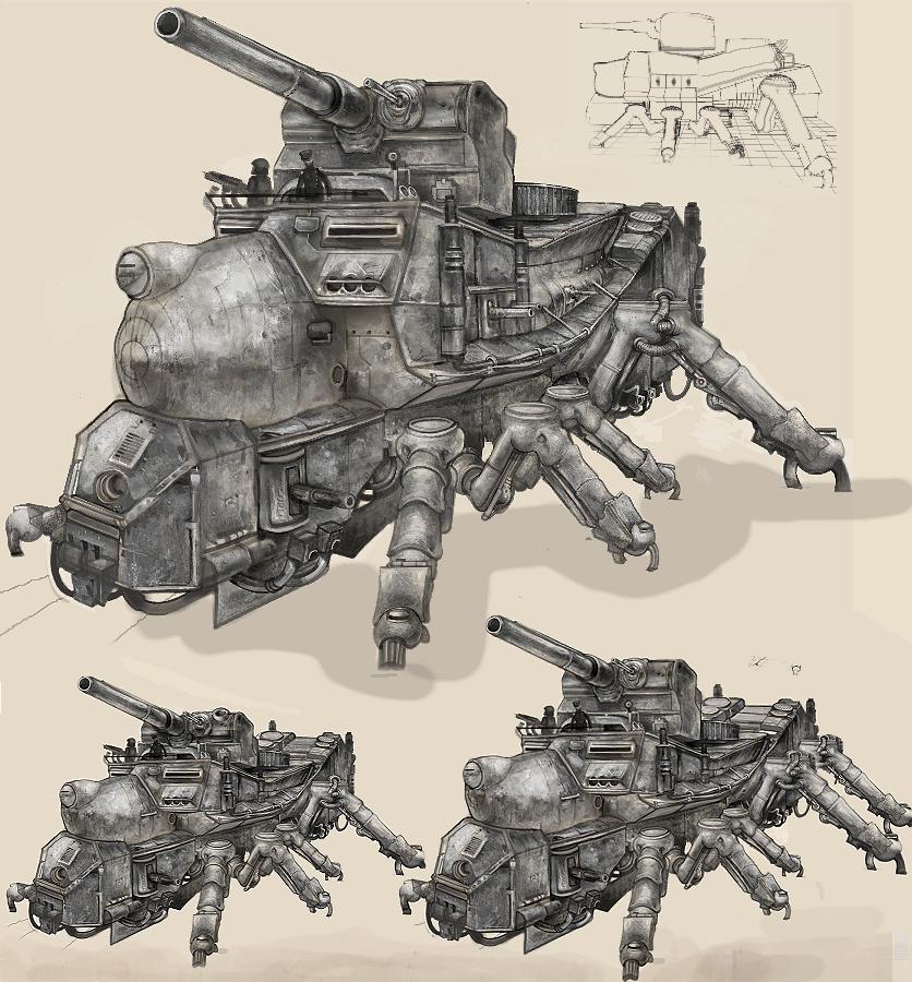 Steampunk game tank Arach