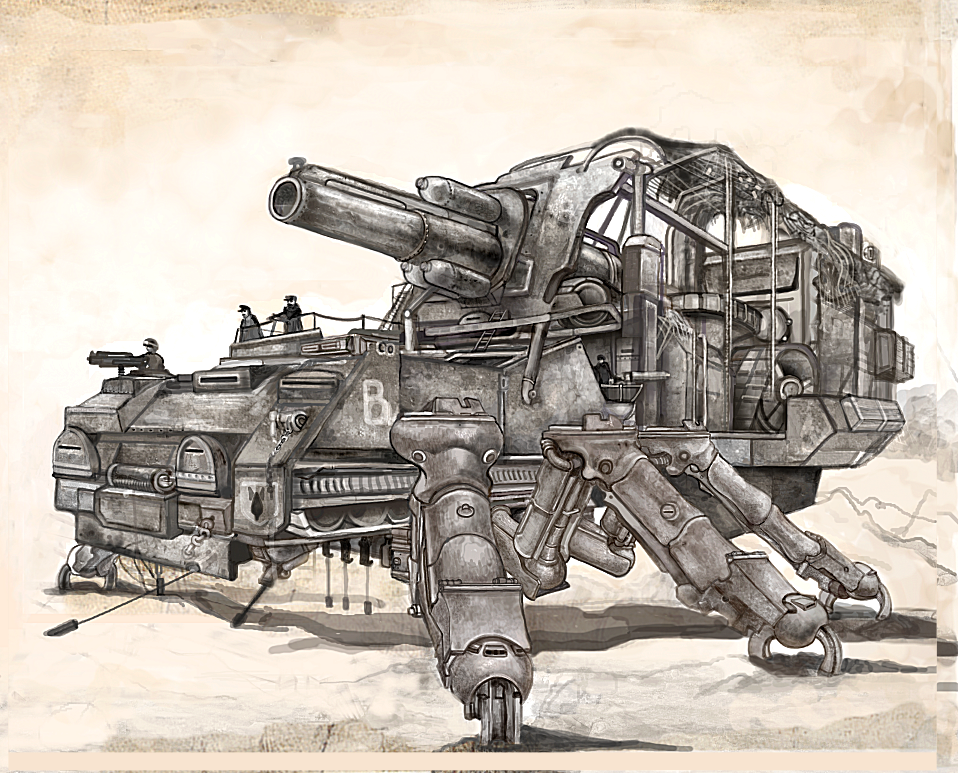 Steampunk game war machine
