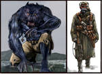 Werewolf and german greatcoat
