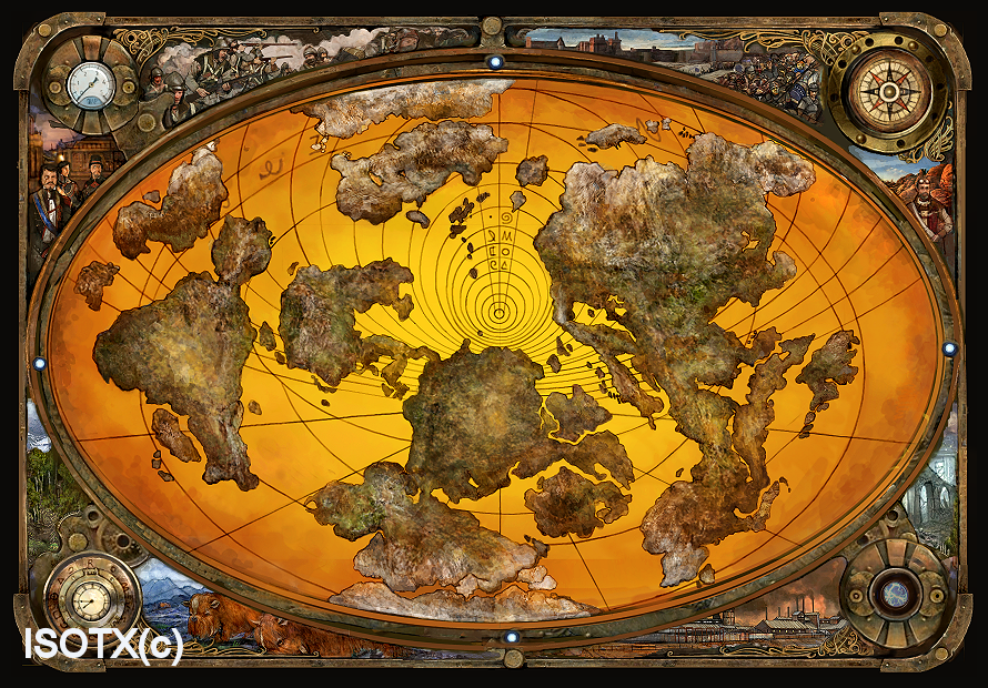 Steampunk Map Wallpaper Steampunk map by monkey-paw