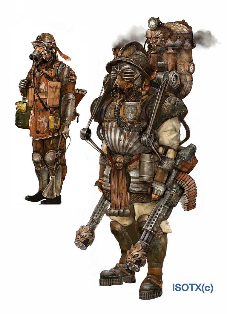 Steampunk game heavy infantry