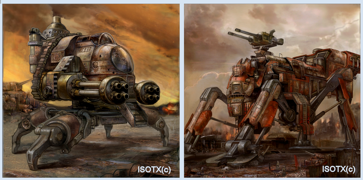 Steampunk game walkers