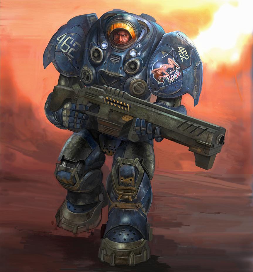 Blizzard Terran Trooper by Monkey-Paw