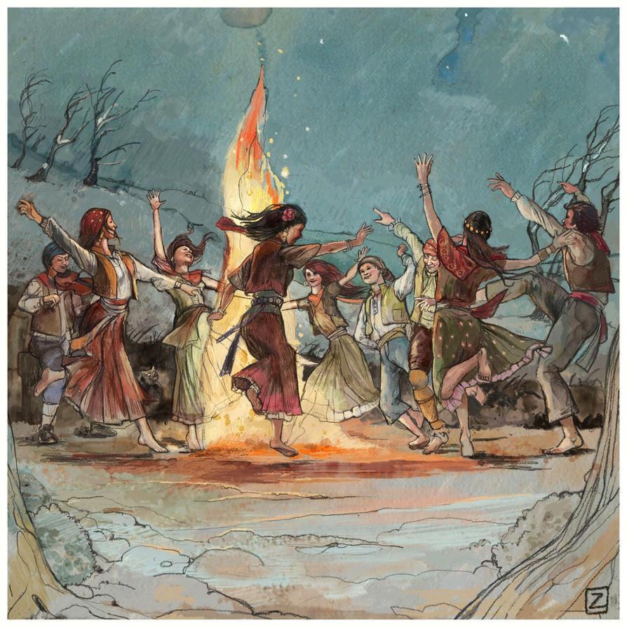 Zartana Fire Dance by Monkey-Paw