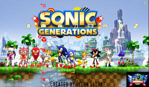 Sonic Generations 2nd PS3 Theme Brand New!