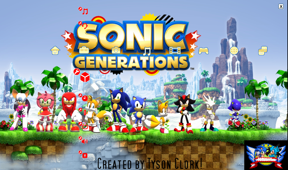 Sonic Generations 2nd PS3 Theme Brand New! by YuseiFudou97