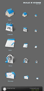 blue style 5 icons