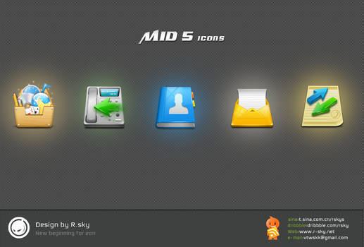 MID 5 icons
