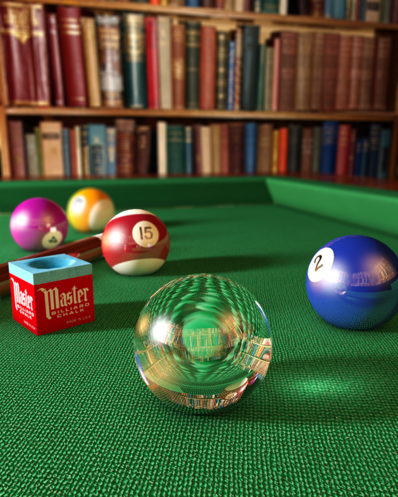 Pool table and glass caustics by todarac on deviantart for Glass billiard table