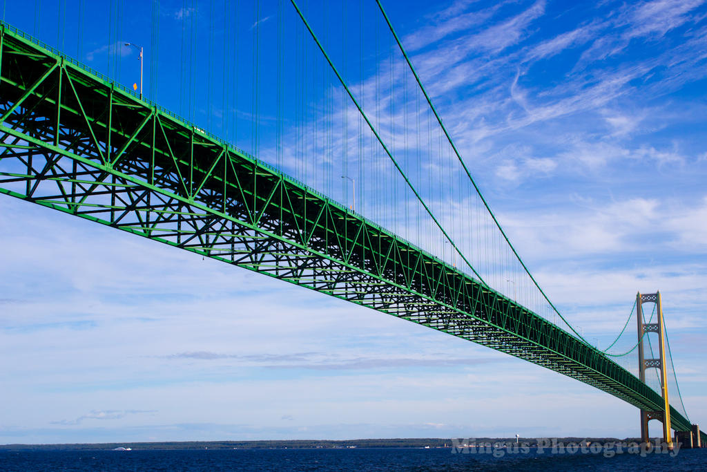 Mackinac Bridge From Lake Michigan by justarus
