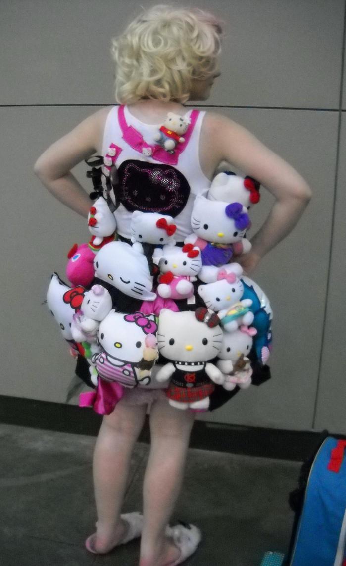 Hello Kitty Fan : Hardcore hello kitty fan rear view by jpop on deviantart