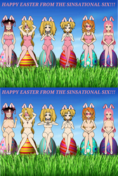 Happy Easter from the Sinsational Six by jpop52