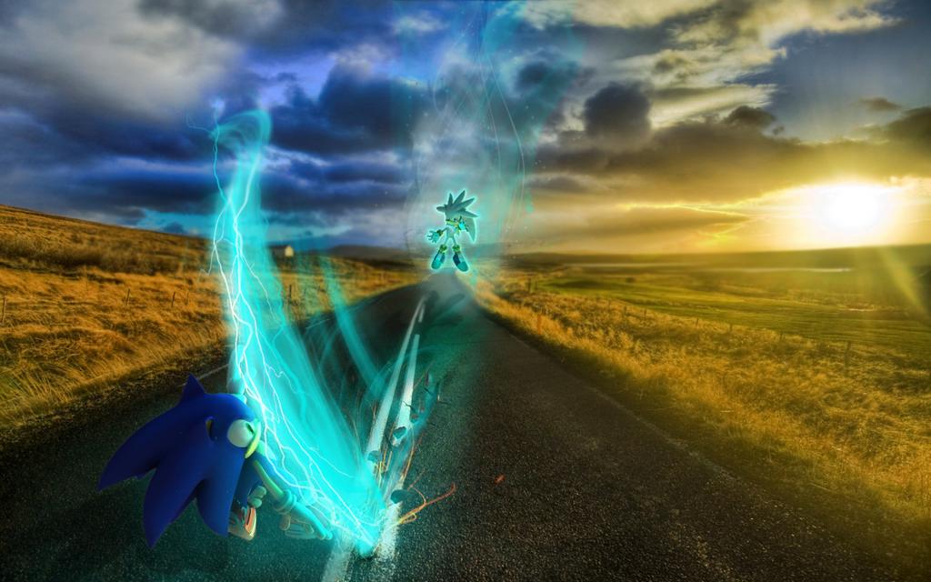 Sonic VS Silver by mixlou