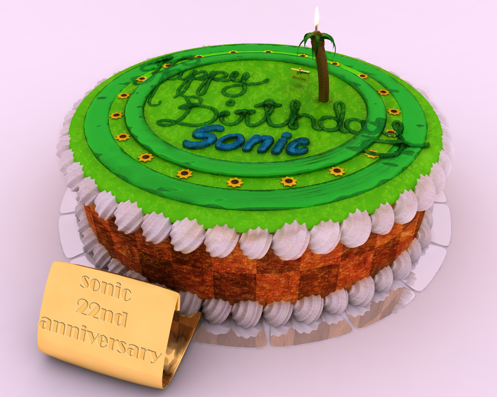 22nd Sonic Birthday Cake By Mixlou On Deviantart
