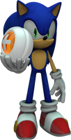 Sonic holding a point
