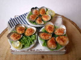 Baked Oysters with Cheese by vesssper