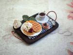 Tray with waffles