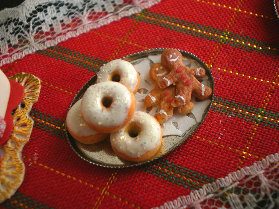 Donuts and Gingerbread Cookies by vesssper