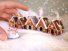 . Tiny Gingerbread Village . by vesssper
