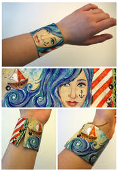 Bring me to the sea - Leather Bracelet