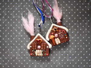 Gingerbread Necklaces