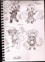 Chibi sketches by 8DarkAngel8
