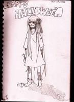 Happy Halloween Sketch by 8DarkAngel8