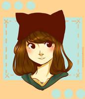 Cat Hat Chick by 8DarkAngel8