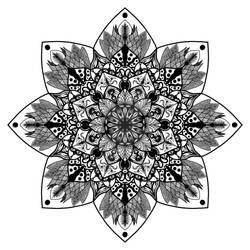 black and white detailed mandala